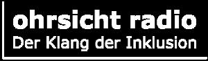 Ohrsicht Radio Logo weiß transparent